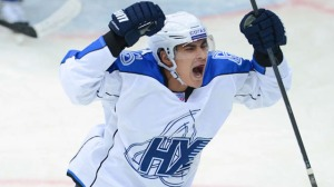 Nail Yakupov playing for HC Neftekhimik Nizhnekamsk of the KHL.Source: KHL.ru