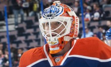 Ben Scrivens of the Edmonton Oilers