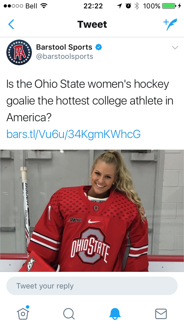 Hot And Crazy Girl Goalies Some Thoughts On Barstool Sports And