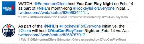 Oilers 2017 YCP night tweets